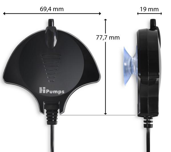 Hi Pumps Nano Piezo Aquarium Luftpumpe Manta schwarz 18l/h