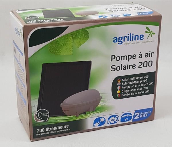 Solar Luftpumpe für Gartenteich 200L/h