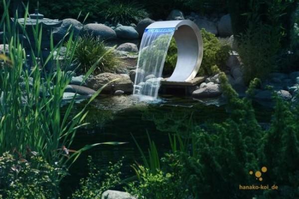 Ubbink MAMBA LED Design Edelstahl Wasserfall für Teiche und Pools
