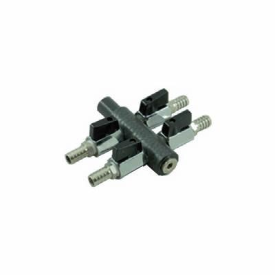 Profi Luftverteiler 4-fach, 9 mm Anschluss