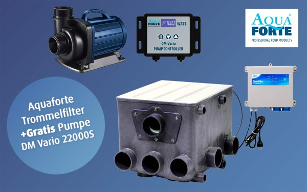 AquaForte Trommelfilter ATF-1 inkl. Steuerung + Gratis DM Vario 22000 S
