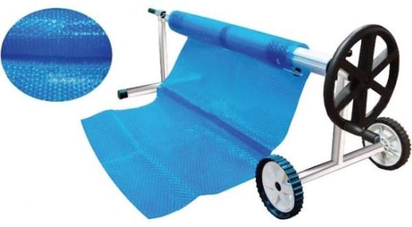 Blaue Luftpolsterfolie Noppenfolie Abdeckung 5,1 x 11 m