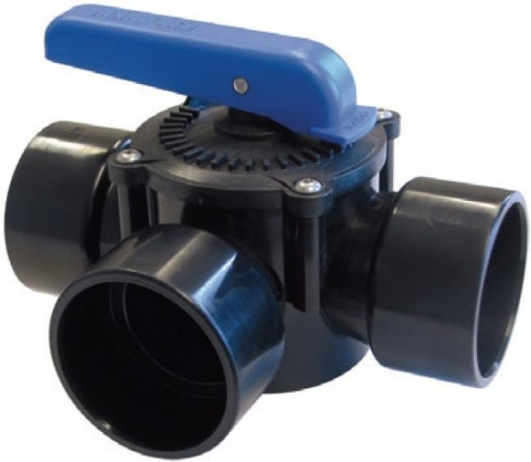 3 Wege ABS Zylinderhahn 63mm