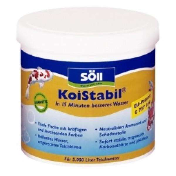Söll KoiStabil 0,5 kg für 5.000 Liter Teichwasser reguliert den PH-Wert