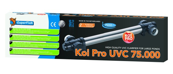 SuperFish Koi Pro Rvs UVC T5 75 Watt / 75000 LTR