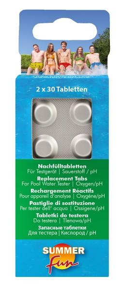 Summer Fun Nachfülltabletten für Wassertestgerät Sauerstoffmethode 2x30 Tabletten