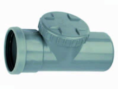 Abflussreinigungstück mit Schraubdeckel, Steckverbindung Muffe / Keil Durchmesser 110