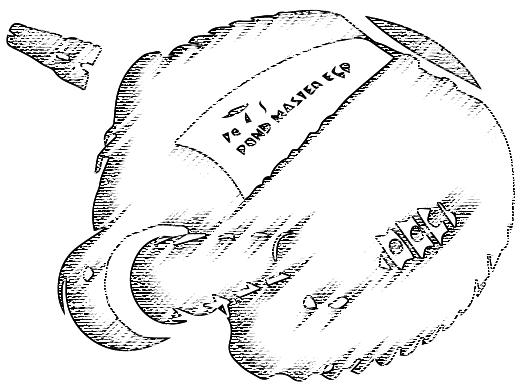 Teichfilterpumpe stilisiert