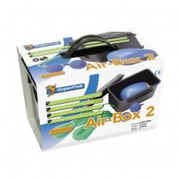 Superfish Air-Box 2 Belüftungs - Set (240 l/h) für Teich u. Aquarium